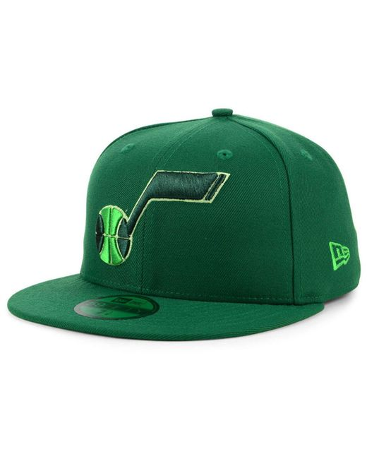KTZ - Green Utah Jazz Color Prism Pack 59fifty Fitted Cap for Men - Lyst ... 59a870e3b