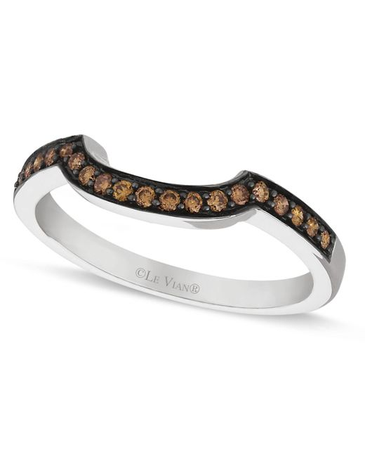Le Vian - Brown Chocolate Diamond Wedding Band (1/5 Ct. T.w.) In 14k White Gold - Lyst