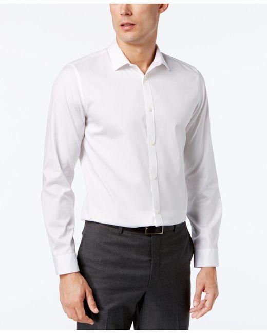 Calvin Klein   White Infinite Cool Classic-fit Shirt for Men   Lyst