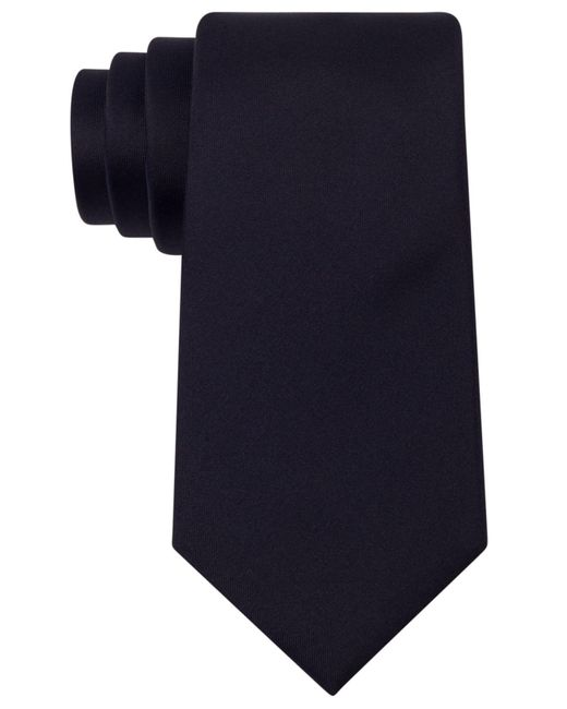 Kenneth Cole Reaction - Blue Slim Solid Tie for Men - Lyst