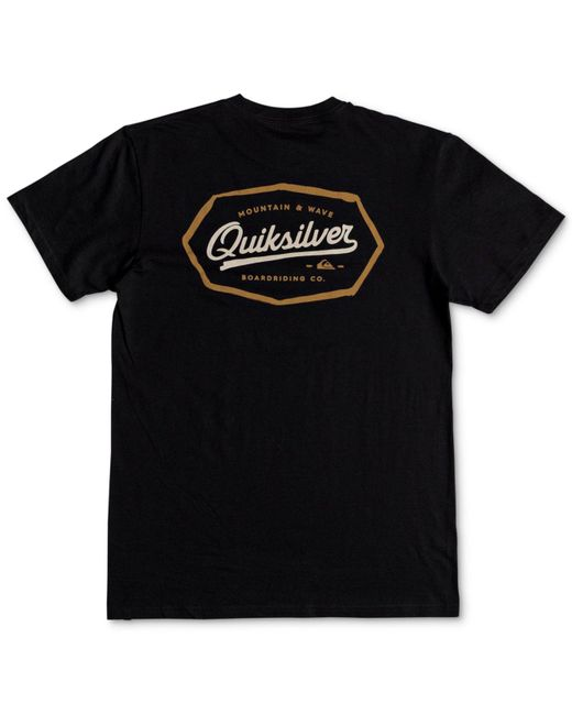 Quiksilver - Black Live On The Edge Logo Graphic T-shirt for Men - Lyst