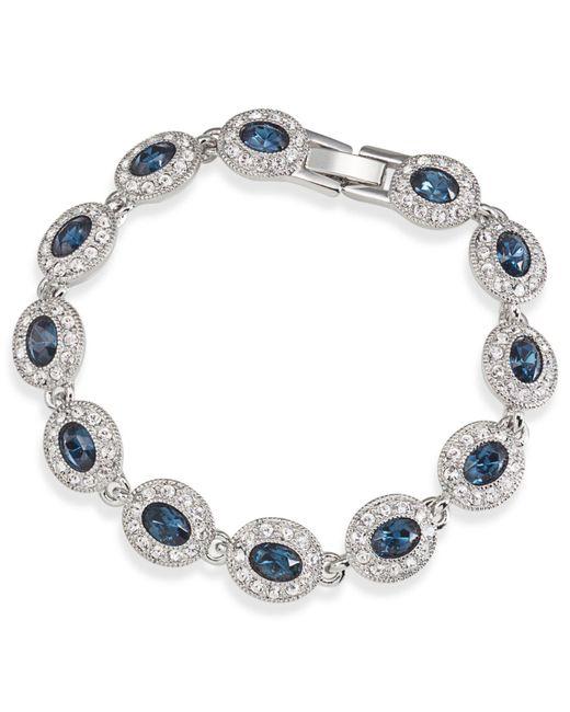 Carolee - Blue Bracelet, Silver-tone Oval Stone Flex Bracelet - Lyst