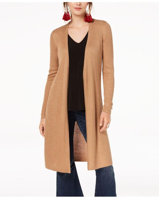 INC International Concepts - Multicolor Ribbed Duster Cardigan, Only At Macy's - Lyst