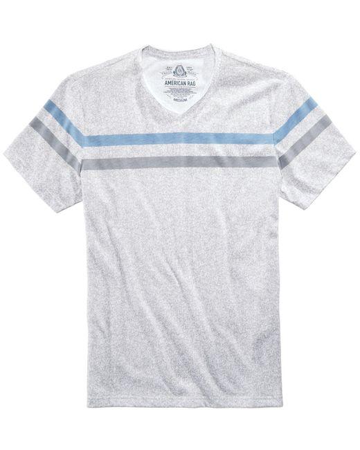 American Rag | White Men's Striped Heathered T-shirt for Men | Lyst