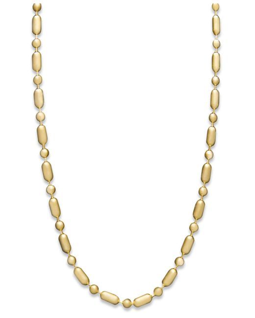 "Macy's | Metallic 14k Gold Necklace, 20"" Dot Dash Chain 