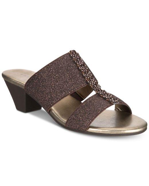 Karen Scott - Brown Zaila Slip-on Sandals, Created For Macy's - Lyst