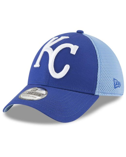 best sneakers b3a6b dd64c KTZ - Blue Kansas City Royals Mega Team Neo 39thirty Cap for Men - Lyst ...