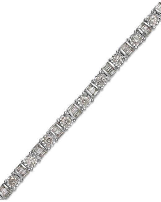 Macy's | Diamond Bracelet In 14k White Gold (2 Ct. T.w.) | Lyst