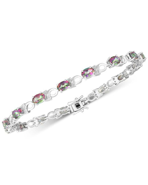 Macy's - Metallic Amethyst (6 Ct. T.w.) & Diamond Accent Link Bracelet In Sterling Silver (also Available In Garnet, Mystic Topaz & Peridot) - Lyst