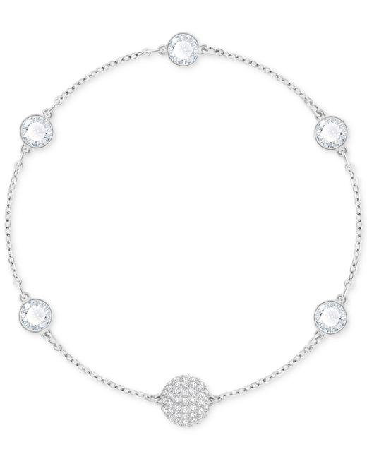 Swarovski - Metallic Halo Crystal & Fireball Link Bracelet - Lyst