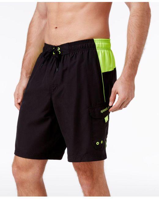 Speedo Black Men's Marina Sport Vaporplus E-board Shorts for men