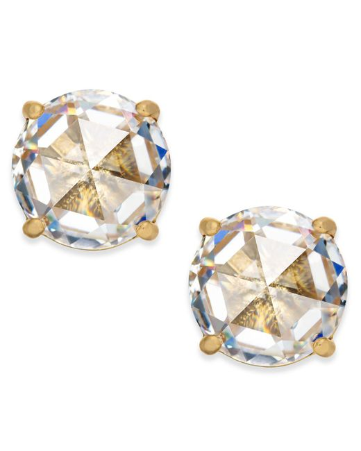 Kate Spade - Metallic 14k Gold-plated Crystal Stud Earrings - Lyst