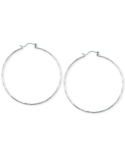 Lucky Brand - Metallic Big Hammered Hoop Earrings - Lyst