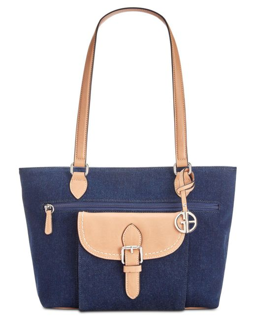 Giani Bernini - Blue Denim Conflap Tote, Created For Macy's - Lyst