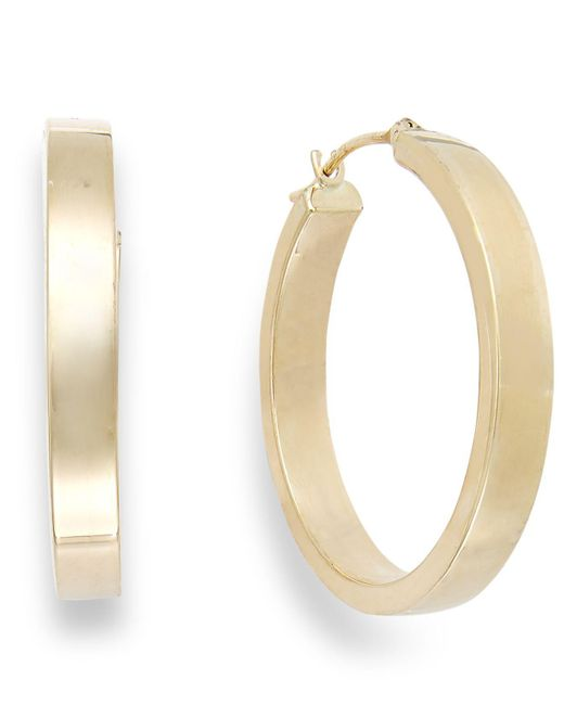 Macy's - Metallic Bold Hoop Earrings In 10k Gold - Lyst