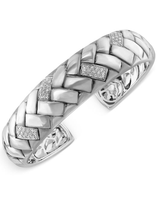 Effy Collection - White Diamond Bangle Bracelet (1/3 Ct. T.w.) In Sterling Silver - Lyst