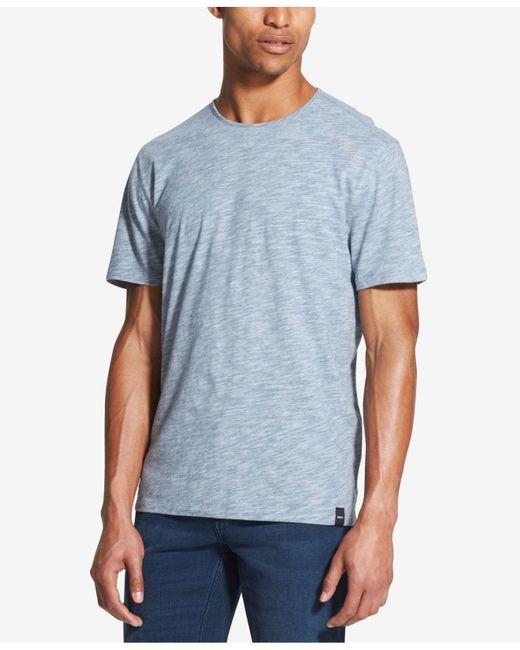 DKNY - Blue Textured T-shirt for Men - Lyst