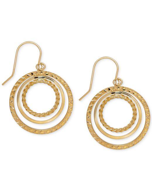 Macy's   Metallic Orbital Hoop Drop Earrings In 10k Gold   Lyst