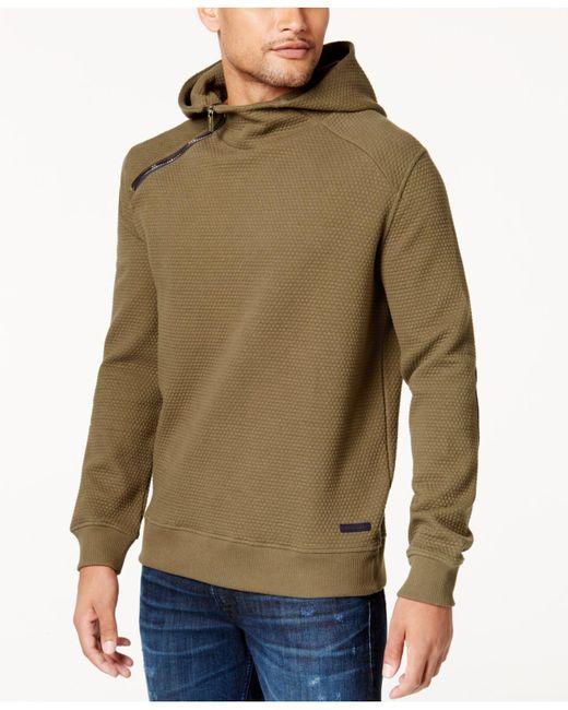 Sean John | Multicolor Men's Textured Elbow-patch Hoodie for Men | Lyst