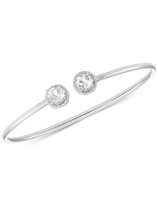 Macy's - Metallic White Topaz Flexible Bangle Bracelet (3-1/5 Ct. T.w.) In Sterling Silver - Lyst