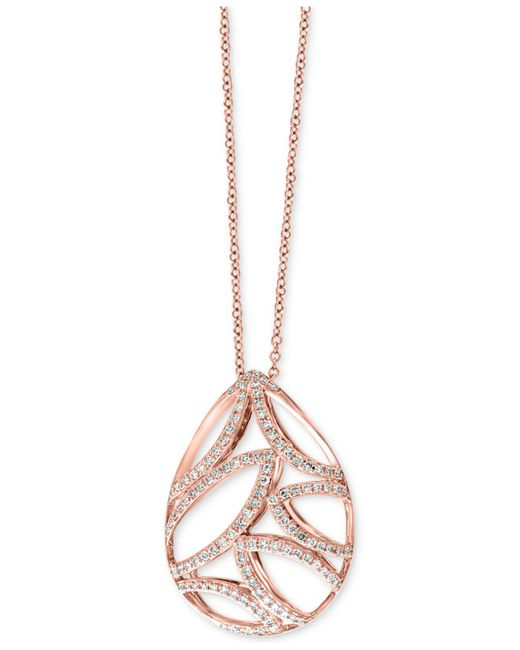 Effy Collection | Pink Diamond Teardrop Pendant Necklace (3/8 Ct. T.w.) In 14k Rose Gold | Lyst