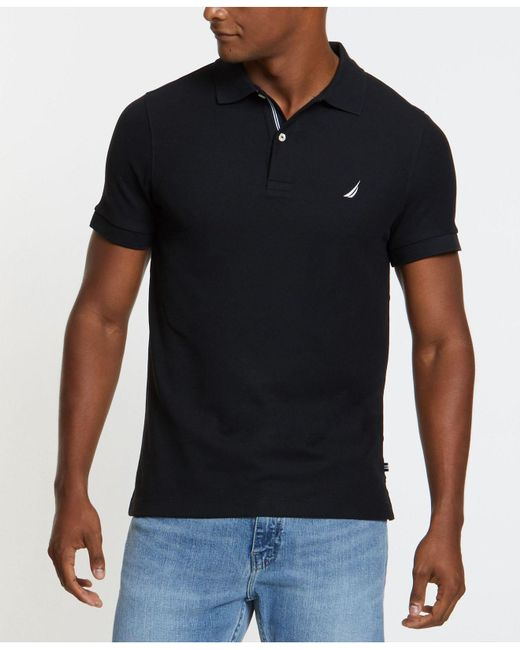 db30d5c9 Nautica Big And Tall Performance Deck Polo in Black for Men - Save ...