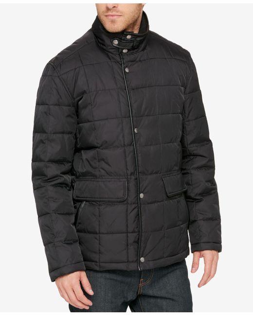Cole Haan | Black Men's Quilted Jacket for Men | Lyst