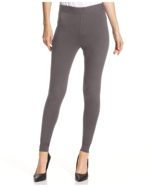 Vince Camuto - Gray Ponte-knit Leggings - Lyst