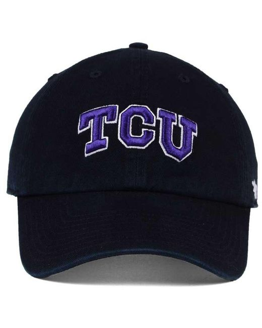 huge discount eb8a2 74842 ... online for sale 0b101 8ef22  clearance 47 brand black tcu horned frogs  clean up cap for men lyst ee9f9 71479
