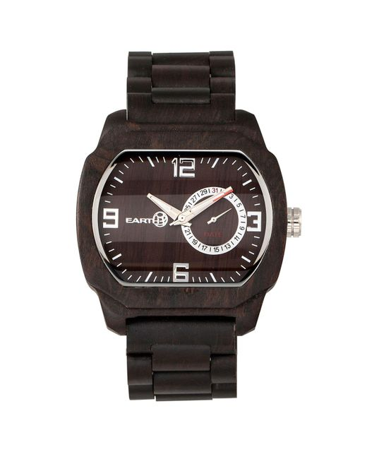 Earth Wood - Scaly Wood Bracelet Watch W/date Brown 46mm - Lyst