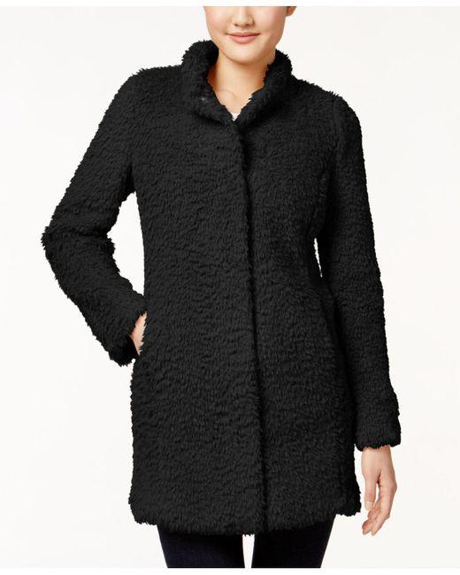 Kenneth Cole | Natural Plus Size Faux-fur Coat | Lyst