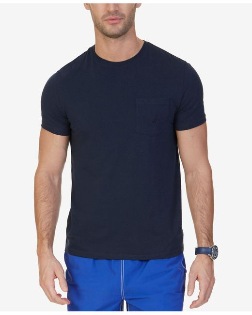 Nautica - Blue Solid Stretch Anchor T-shirt for Men - Lyst