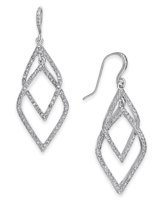 INC International Concepts - Metallic I.n.c. Silver-tone Pavé Orbital Drop Earrings, Created For Macy's - Lyst