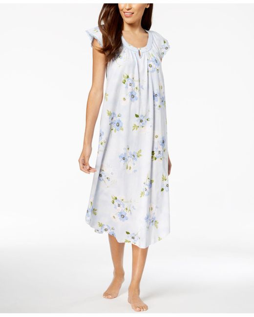 Charter Club - Multicolor Lace-trim Cotton Nightgown, Created For Macy's - Lyst