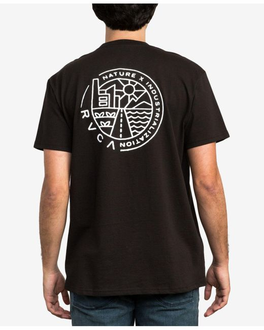 RVCA - Black Heartland Graphic T-shirt for Men - Lyst