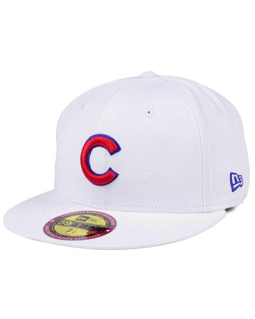 huge selection of 89b1f 765fa ... KTZ - White The Ultimate Patch Collection Stadium 59fifty Cap for Men -  Lyst ...