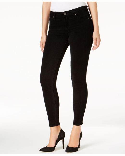 Kut From The Kloth | Black Skinny Corduroy Ankle Pants | Lyst