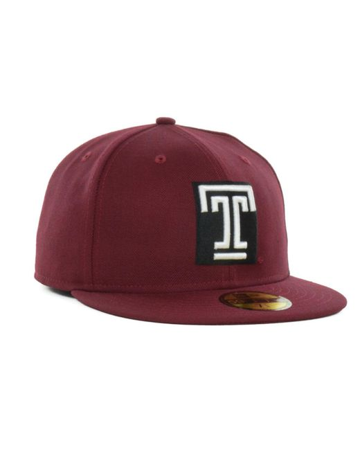 new styles 2430d 27578 ... KTZ - Red Temple Owls 59fifty Cap for Men - Lyst ...