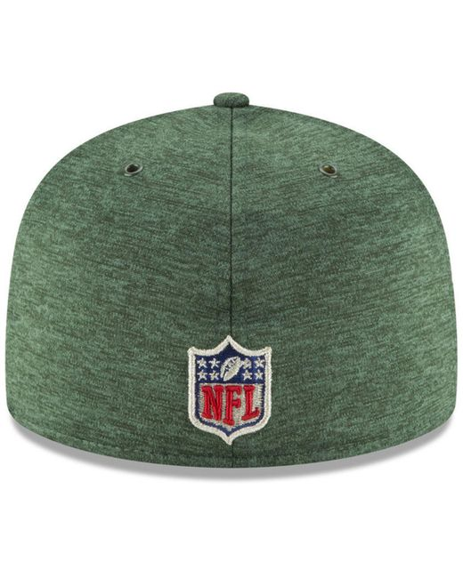 156b4cfde ... KTZ - Green New York Jets On Field Sideline Home 59fifty Fitted Cap for  Men ...