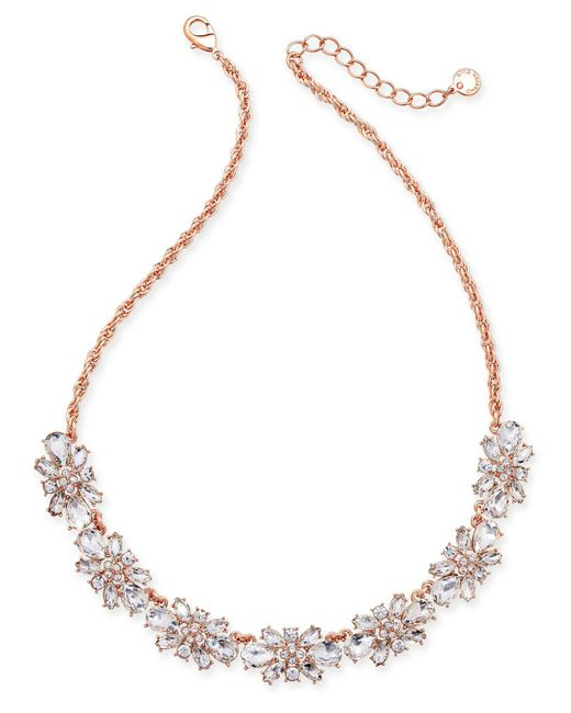 Charter Club - Metallic Clear & Colored Crystal Necklace - Lyst