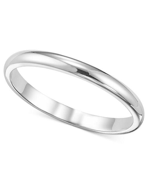 Macy's | Metallic Women's Ring, 2mm Platinum Wedding Band | Lyst