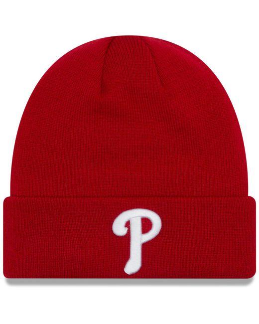 66a1f4d474a165 KTZ - Red Philadelphia Phillies Basic Cuffed Knit Hat for Men - Lyst ...