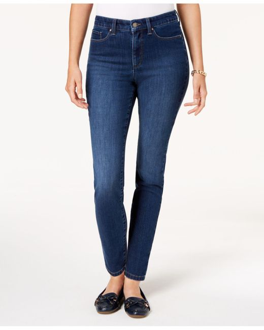 Charter Club - Blue Windham Tummy-control Skinny Jeans, Created For Macy's - Lyst