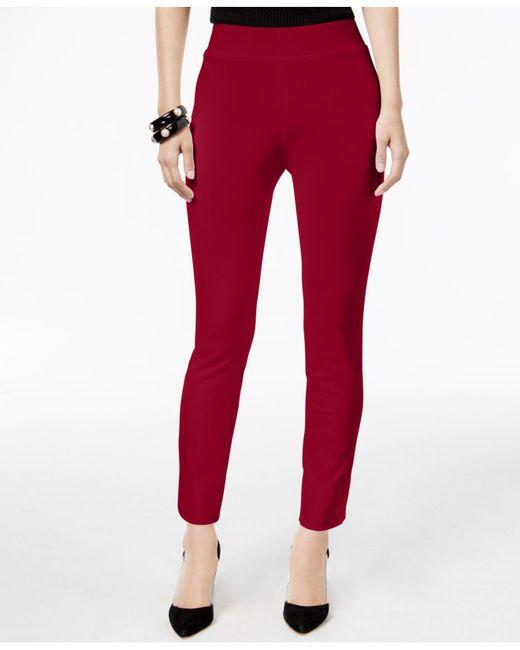 Eci   Red Pull-on Straight-leg Pants   Lyst