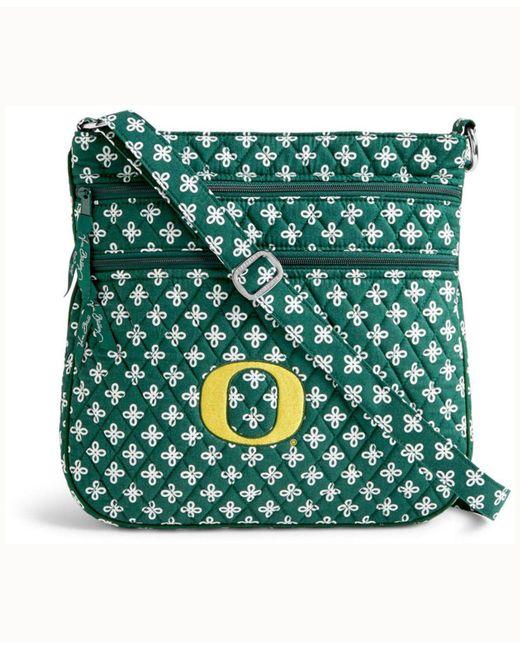 6eda0183e2 Lyst - Vera Bradley Oregon Ducks Triple Zip Hipster in Green