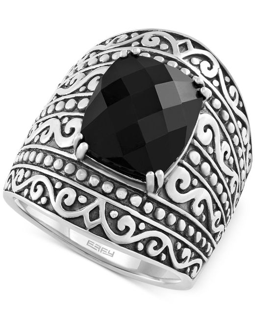 Effy Collection - Metallic Onyx Statement Ring (4 Ct. T.w.) In Sterling Silver - Lyst
