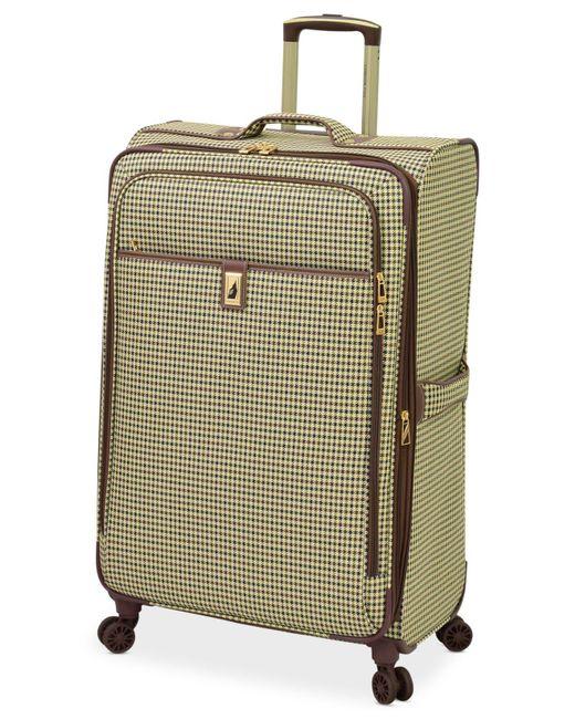 """London Fog - Green Oxford Hyperlite 29"""" Expandable Spinner Suitcase for Men - Lyst"""