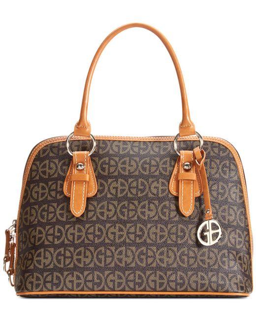 Giani Bernini - Brown Handbag, Signature Block Dome Satchel - Lyst