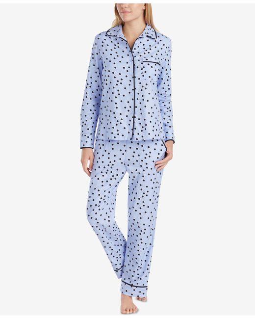 Kate Spade | Purple Satin-piping Printed Pajama Set | Lyst