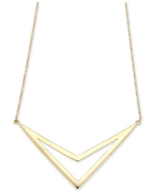 Macy's | Metallic Open Chevron Collar Necklace In 14k Gold | Lyst